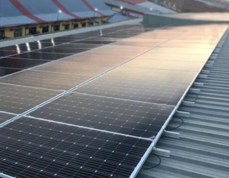 Solara company install of solar panels in Rio Grande Factory
