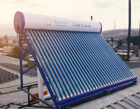 Solara company install of water heater in the Rio Grande Factory