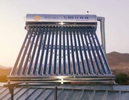 Սոլարա ընկերության իրականացրած նախագիծ - ջրատաքացուցիչի տեղադրում