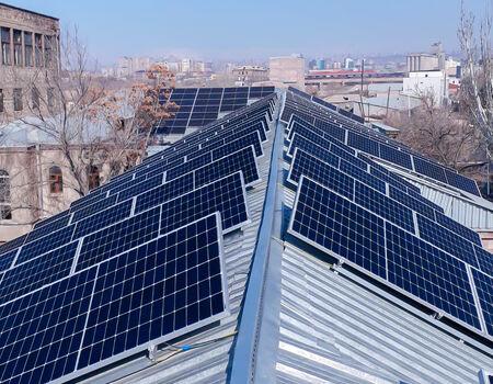 Installation of solar panels in Cardinal International