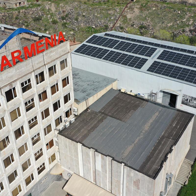 Solara company install of solar panels in Armenia TV