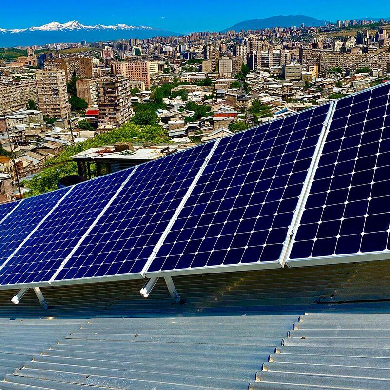 Installation of solar panels in Sari Tagh