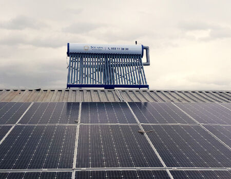 Solara company install of water heater in the Rio Grande