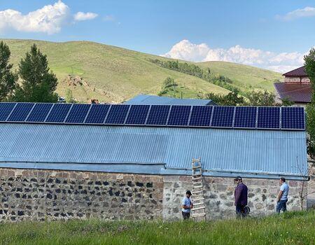 Installation of solar panels in Dzoragyux