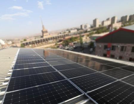 Solara company install of solar panel in Rio Grande Factory